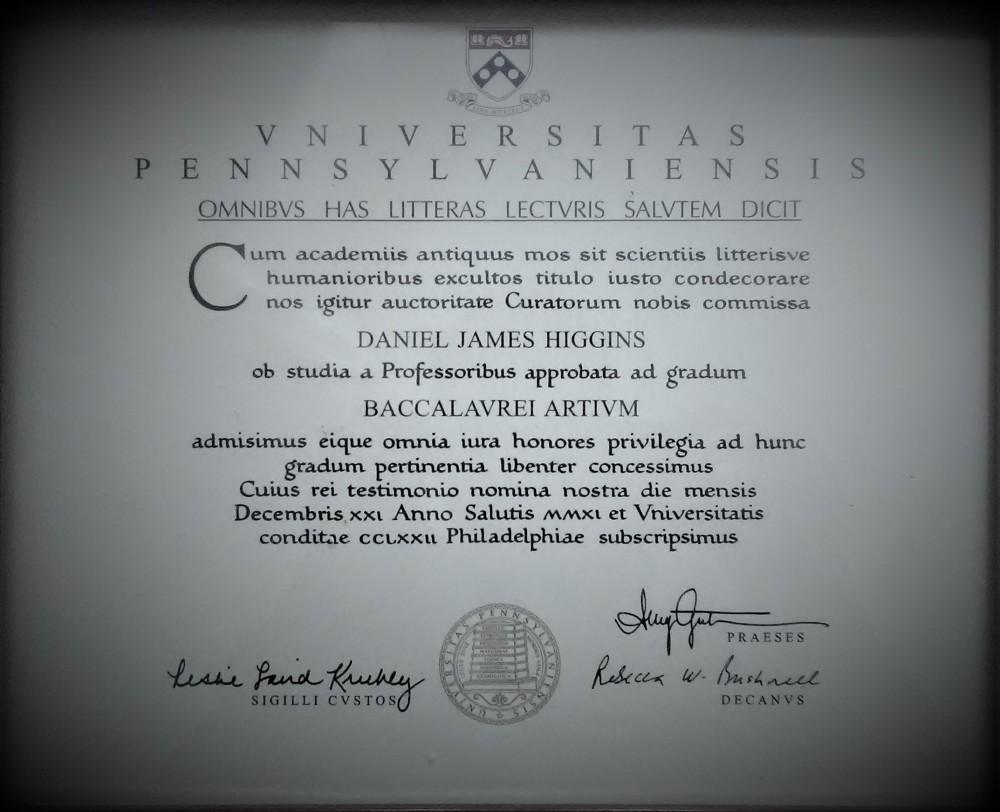 University of Pennsylvania Diploma