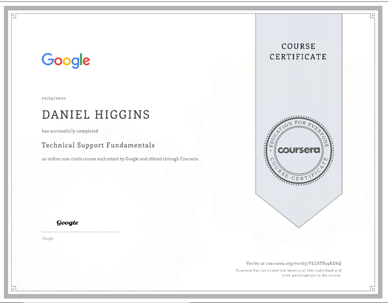 Google IT Support Certification